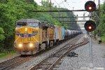 UP 6599 leading empty ethanol train K623